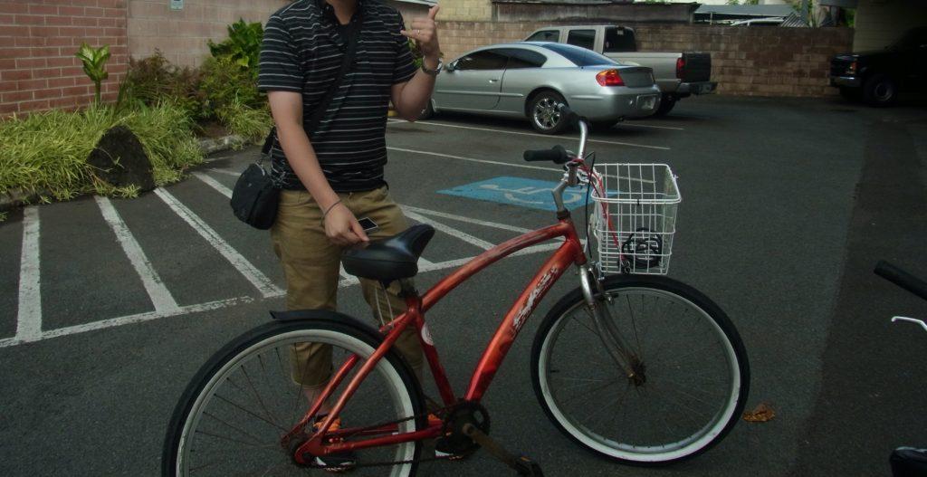 カイルアバイシクルでサイクリング
