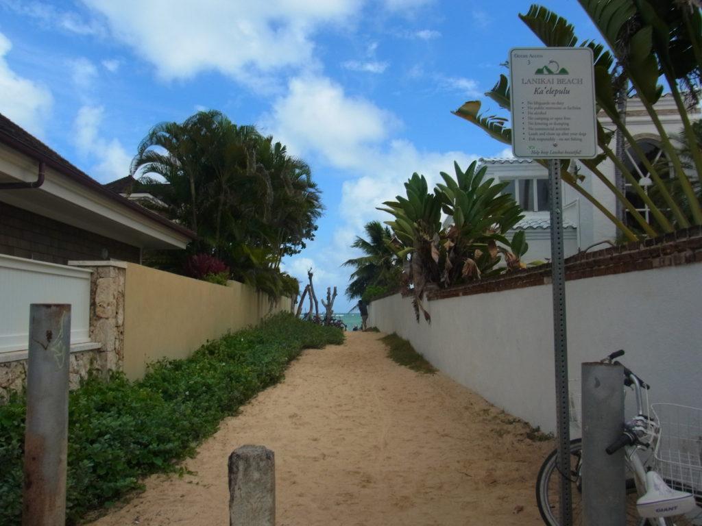 ラニカイビーチ入口