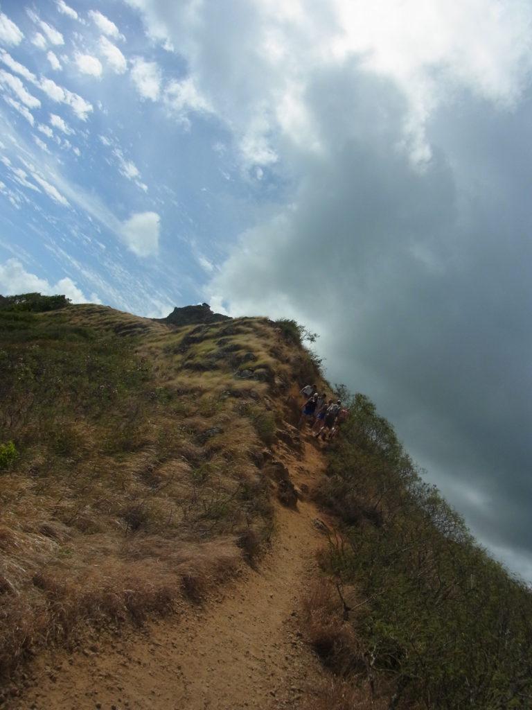 ラニカイ・ピルボックス・トレイルの山登り