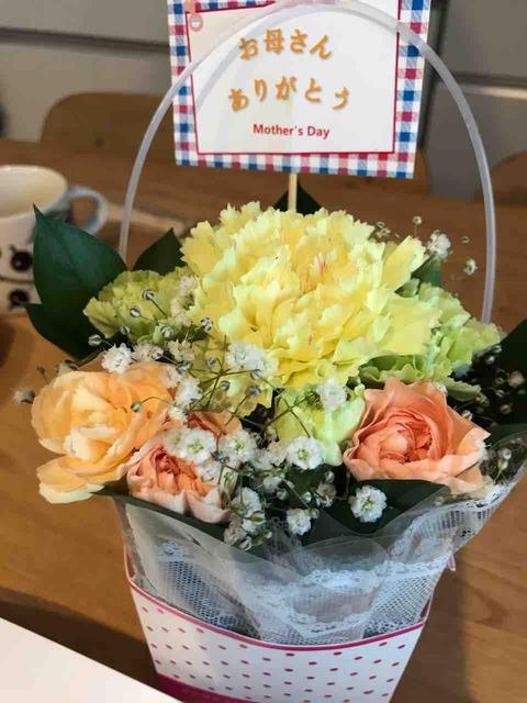母の日に花束をプレゼント