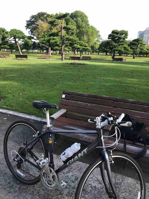 皇居前をサイクリング